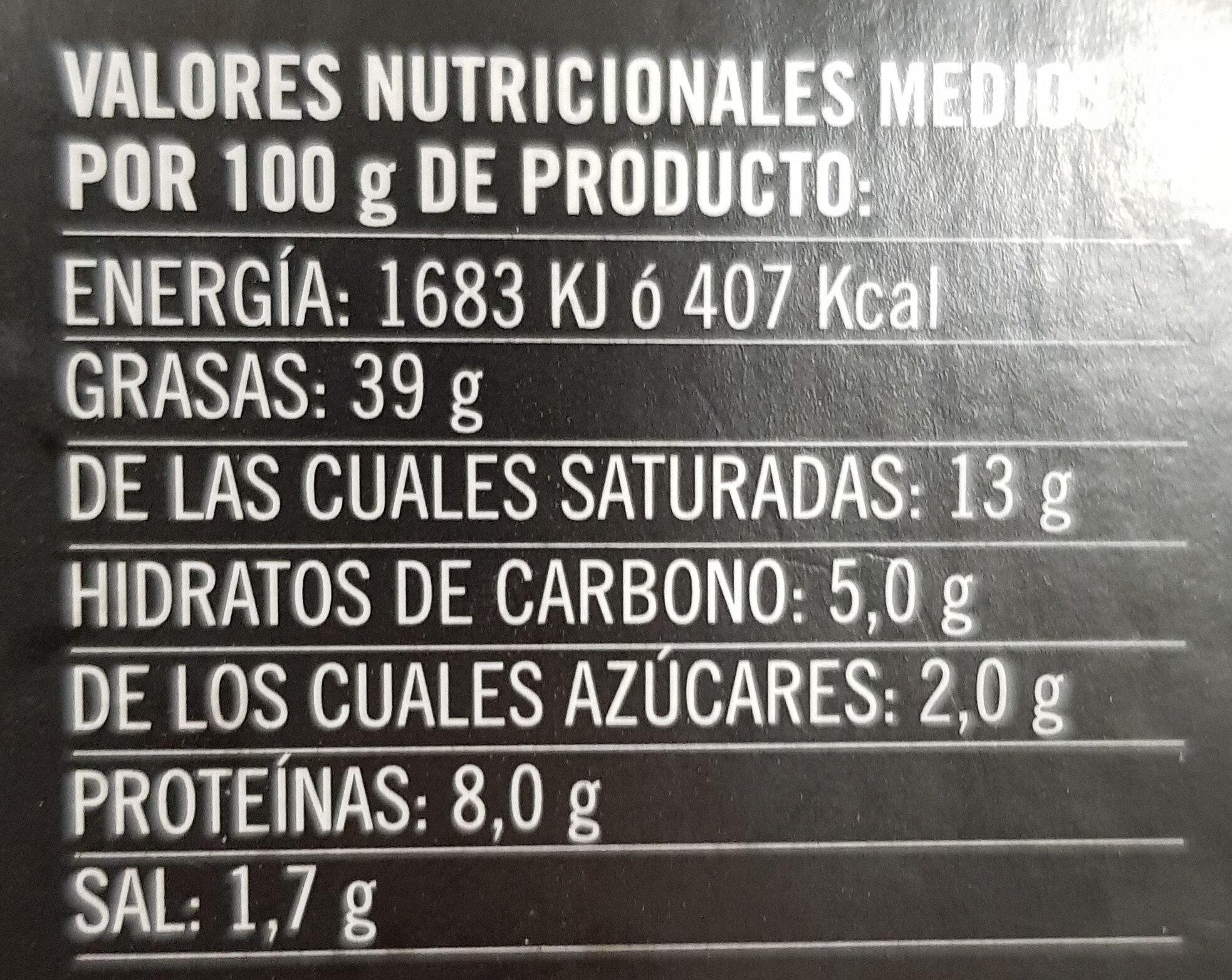Mousse de pato con reducción de Pedro Ximenez - Informação nutricional - es