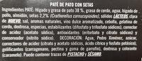 Mousse de Pato con Setas - Ingredientes - es