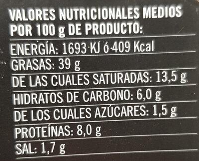 Mousse de Pato con Setas - Información nutricional - es