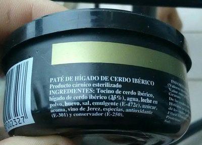 Paté Ibérico - Ingrédients
