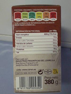 Carrilleras Estofadas - Informació nutricional - es