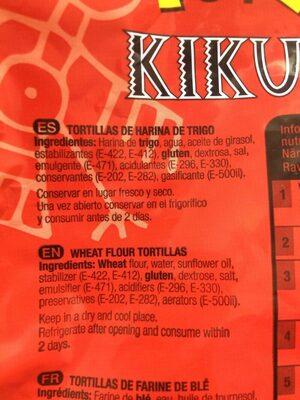Tortillas kikus - Ingredients - es
