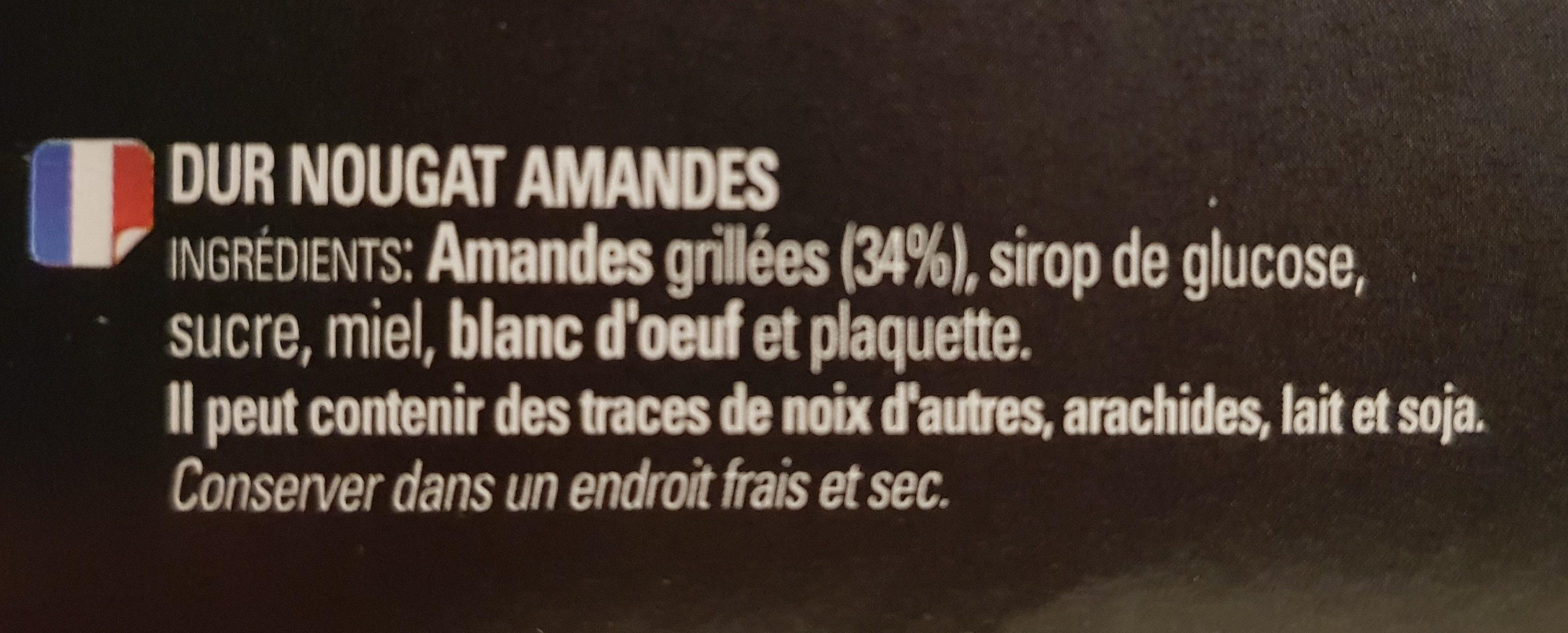 Turrón duro de almendra - Ingrédients - fr