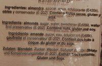 Marzapan De Soto - Ingredientes