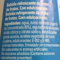 Trina Zero - Ingredients - es