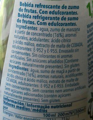 Trina Manzana Zero - Ingredients - es