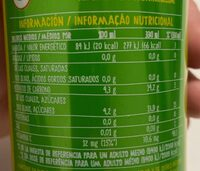 Refresco de limón sin burbujas - Información nutricional - es