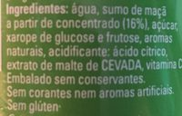 Trina Manzana - Ingredients