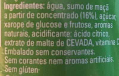 Refresco manzana sin burbujas - Ingrediënten - pt