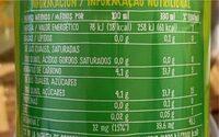 Refresco manzana sin burbujas - Voedingswaarden - pt