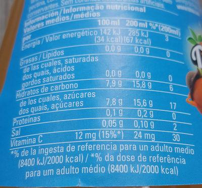 Trinaranjus Naranja - Informació nutricional