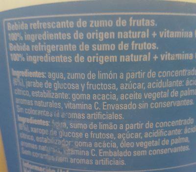 Refresco de limón sin burbujas - Ingredientes - es