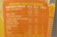 Trina naranja laranja - Nutrition facts - fr
