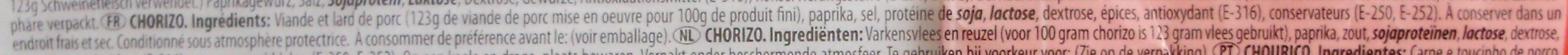 Chorizo Fort Pikant - Ingrédients - fr