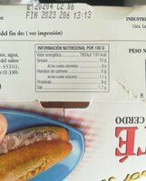 Paté de hígado de cerdo - Nutrition facts - es