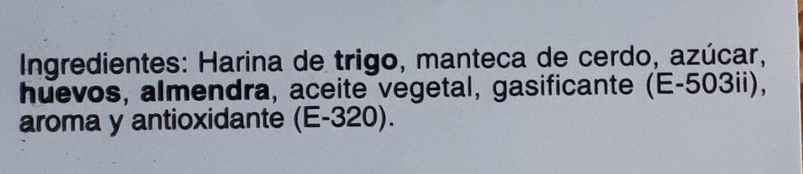 Almendrados - Ingredients