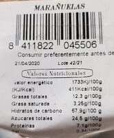 Marañuelas - Nutrition facts