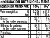 Patatas fritas onduladas - Información nutricional - es
