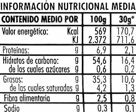 "Patatas fritas lisas ""Risi"" - Nutrition facts - es"