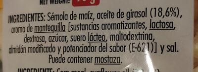 Palomitas - Ingredientes - es