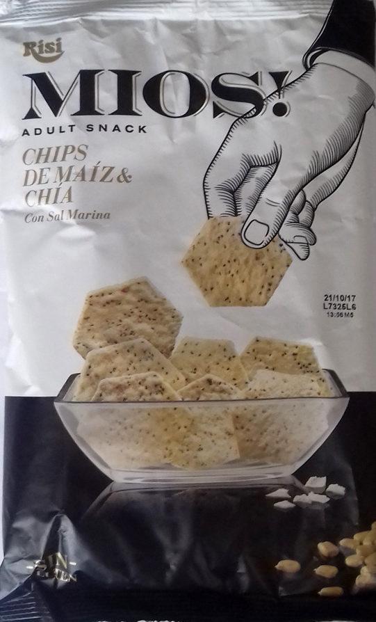Mios! chips de maíz y chia con sal marina Sin Gluten bolsa 150 g - Producto