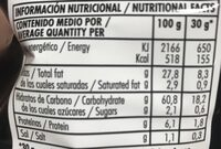 Trikers - Nutrition facts