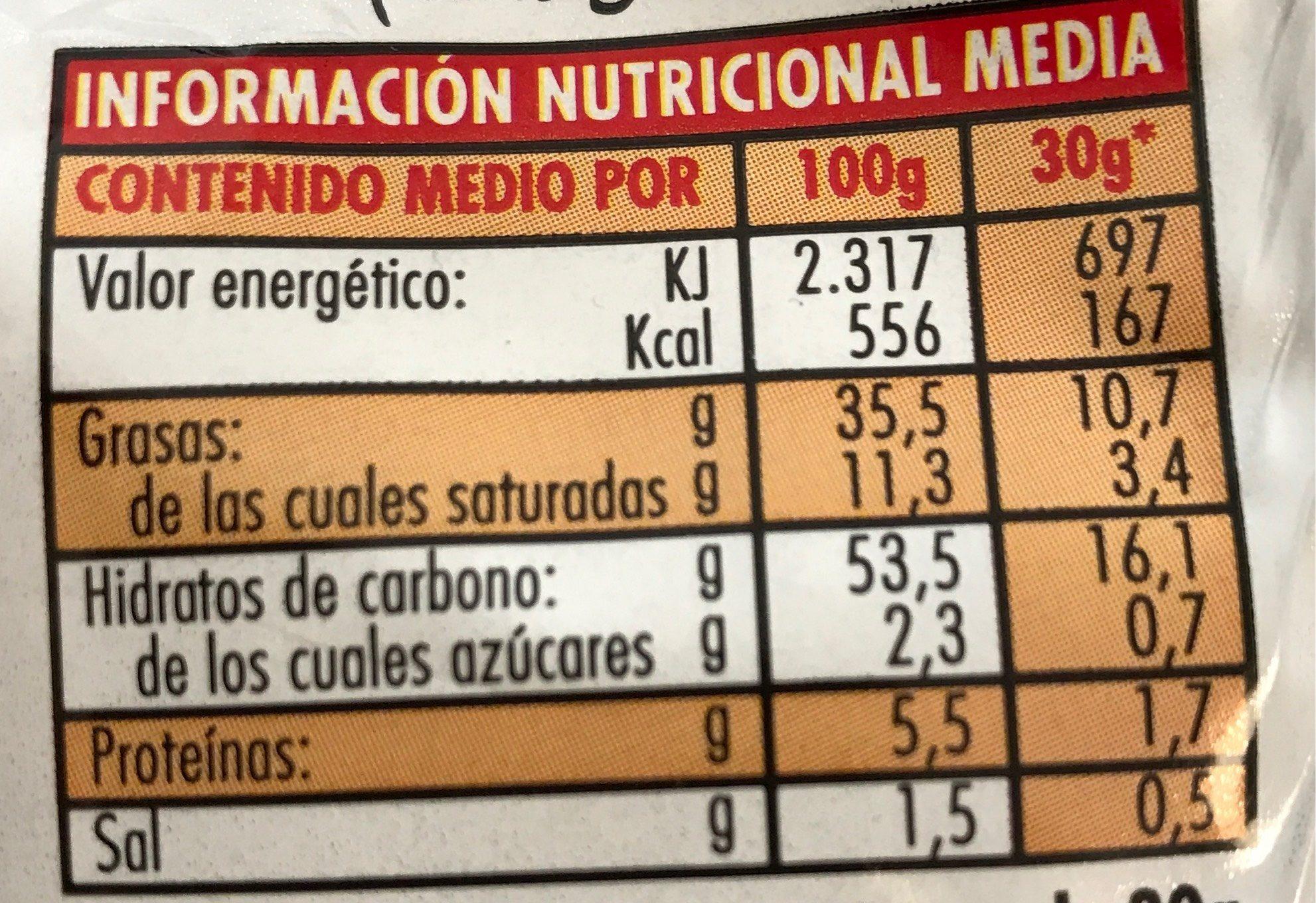 Risketos Original - Información nutricional - es