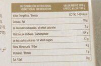 Turron de fruta confitada - Nutrition facts - es