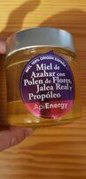 Miel de azahar con polen jalea y propóleo tarro - Producto - es