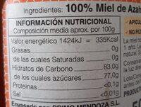 Miel de Azahar - Nutrition facts - es