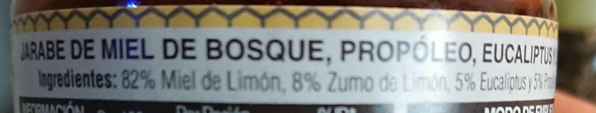 Jarabe de miel casero - Ingrediënten