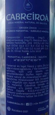 Agua - Valori nutrizionali - es