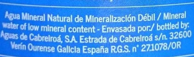 Agua mineral - Ingredientes