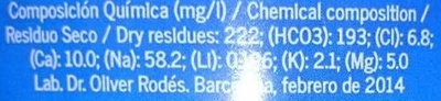 Cabreiroa - Información nutricional