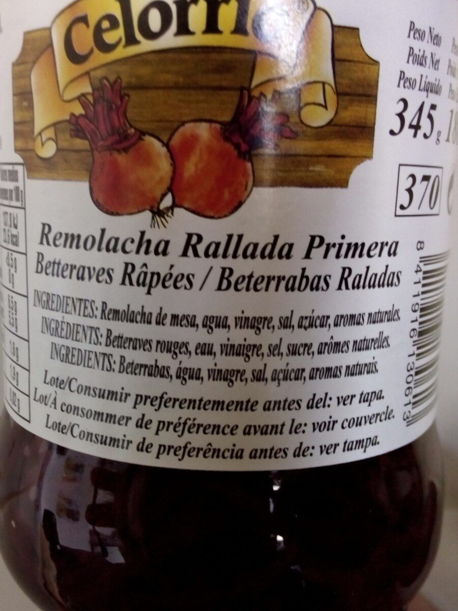 Remolacha Rallada Primera Tarro 1 - Produit - fr