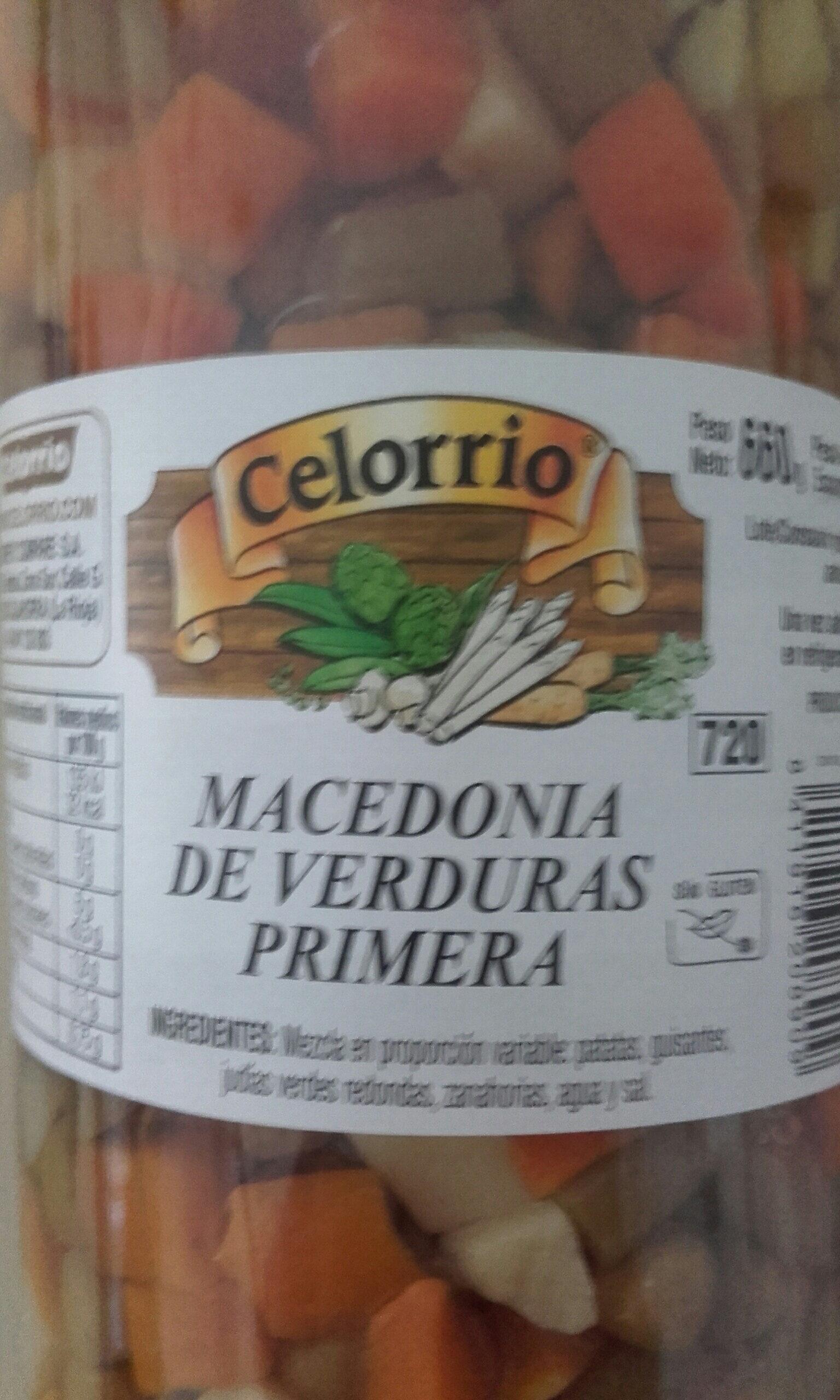 Macedonia verduras - Ingredients