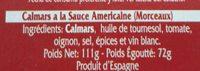 Calamares en salsa americana - Ingredientes