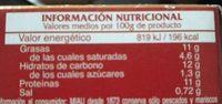 Calamares en salsa americana - Información nutricional