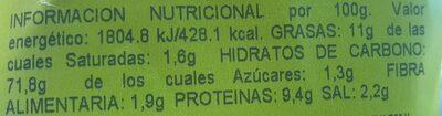 Palillos - Información nutricional - es