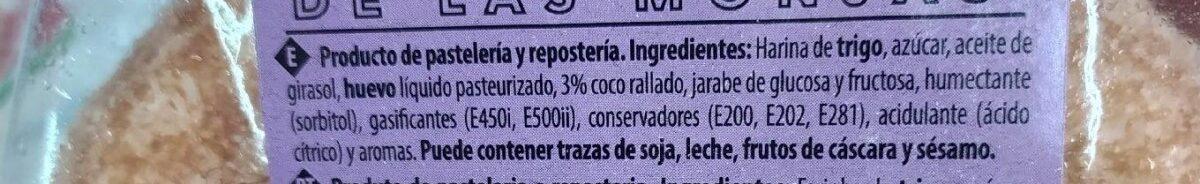 Bizcochito de las monjas MÉNDEZ - Ingredientes