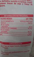 Mantecadas - Informació nutricional - es