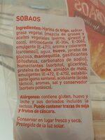 Sobaos - Inhaltsstoffe - es