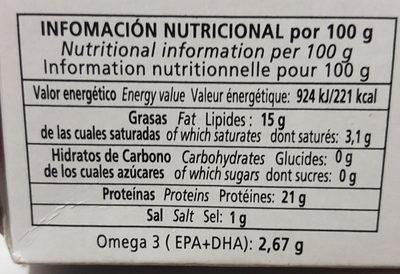 Sardinas en salsa de tomate - Nutrition facts - es