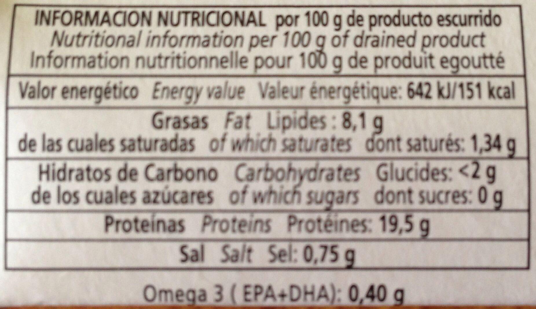 Chicharrillos en aceite vegetal - Nutrition facts - es