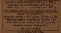 Filetes de caballa del sur - Nutrition facts - es