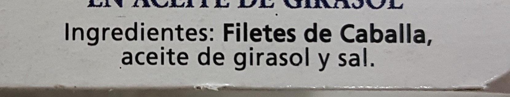 Filetes de caballa del sur - Ingrediënten - es