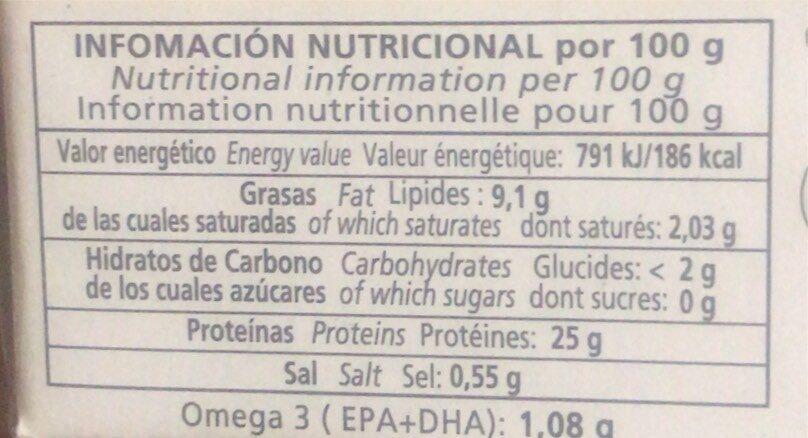 Filetes de caballa del sur - Voedingswaarden - es