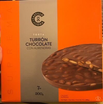 Turron Chocolate con Almendras