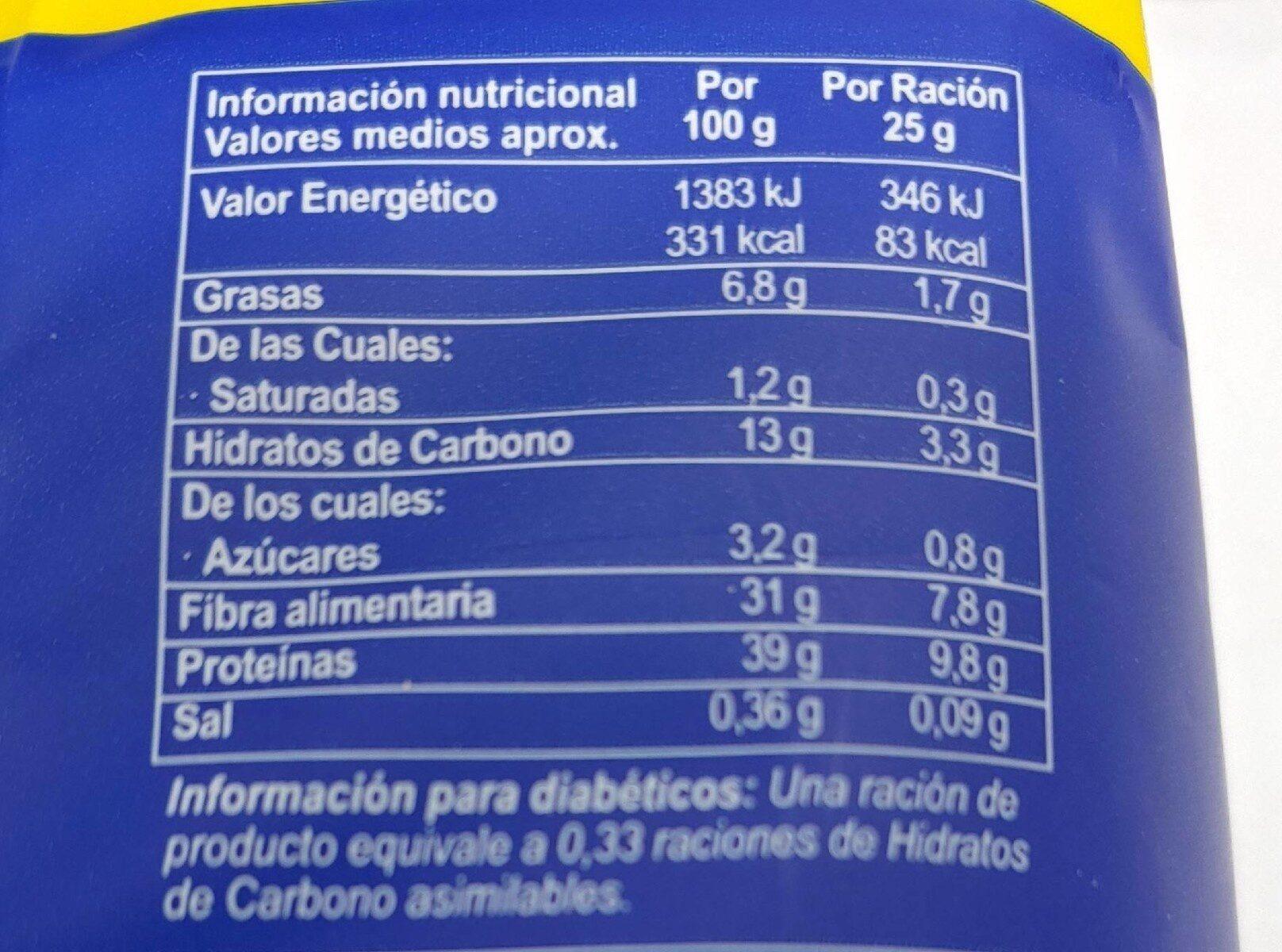 Levadura de cerveza desamargada - Nutrition facts - es