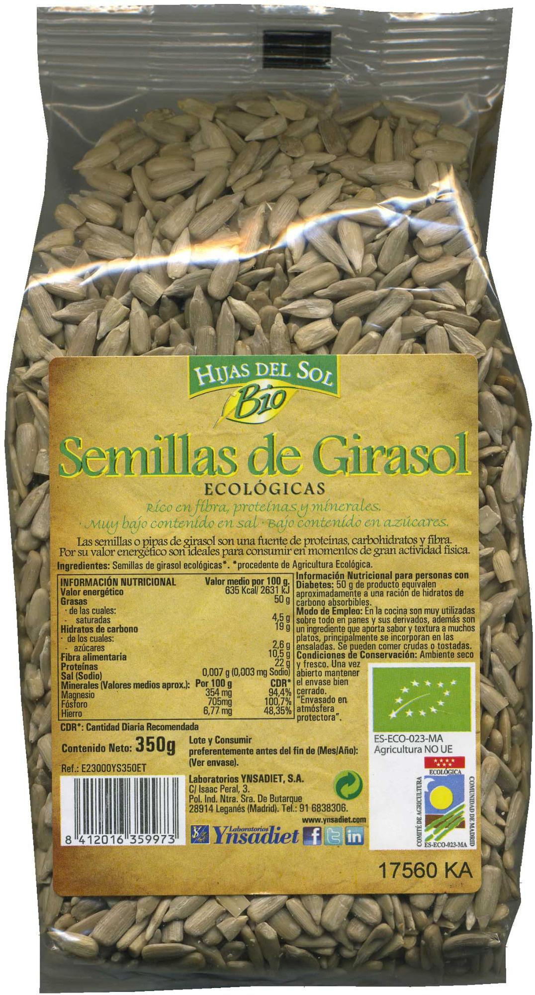 Semillas de girasol ecológicas - Produit - es